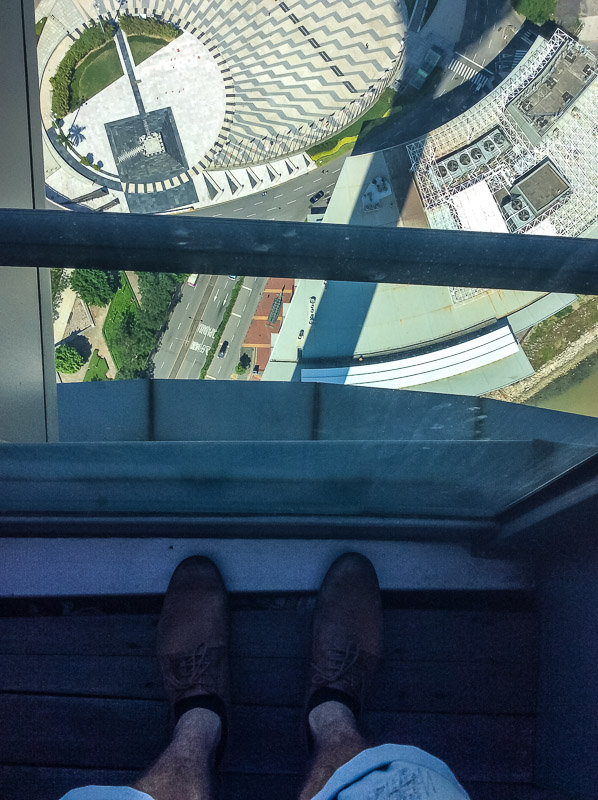Looking Down from the Macau Tower 233 meters up