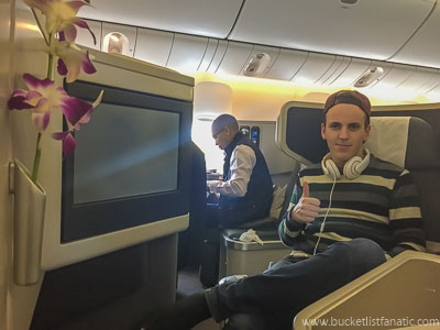 Fly Business Class - Bucket List