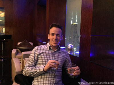 Enjoying a cigar at Grand Hyatt | Shanghai