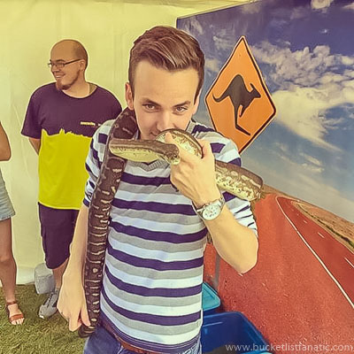 Hold a Snake - Bucket List