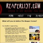 Bucket List Website: ReaperList