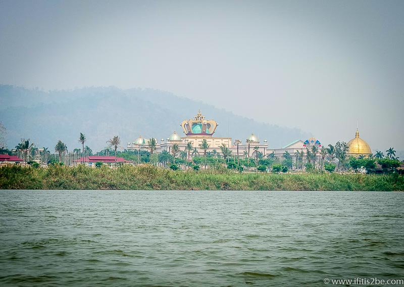 A casino at the Laos side of the Golden Triangle