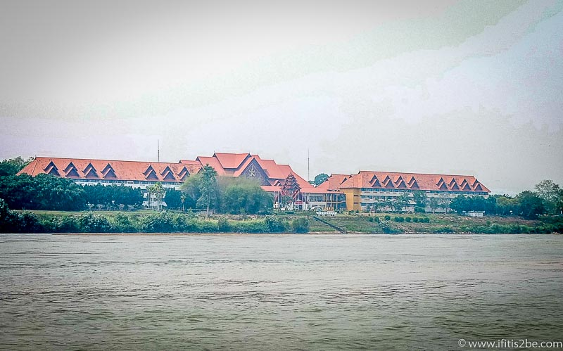 Myanmar Casino seen from our boat (Golden Triangle)