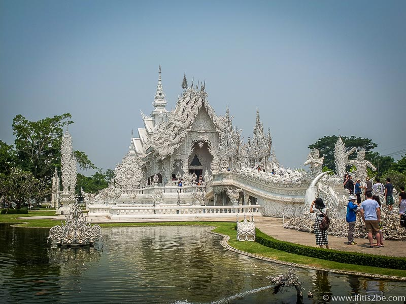 White Temple outside of Chiang Rai