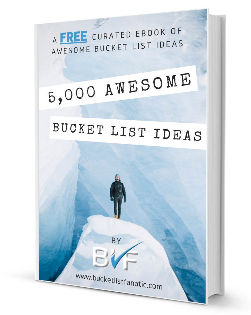 Free eBook - 5,000 Awesome Bucket List Ideas