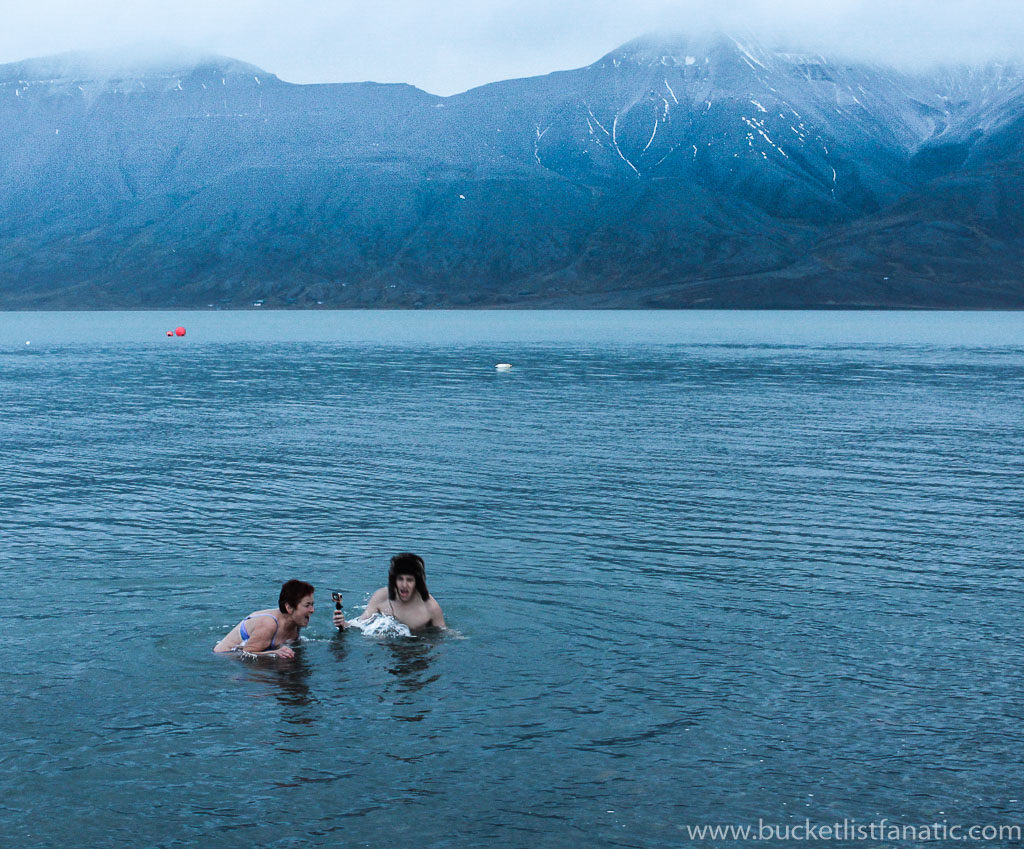 Swim in Arctic Ocean - Bucket List Svalbard